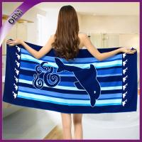Quality wholesale microfiber custom printed beach towel with dolphin pattern for sale