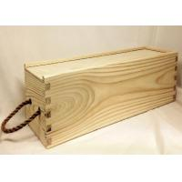 Quality Decorative Wooden Crate Gift Box , Wine Bottle Storage Unfinished Wood Box for sale