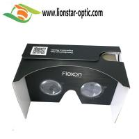 Quality black google cardboard version 2 virtual reality 3D glasses 360 degree vr viewer for sale