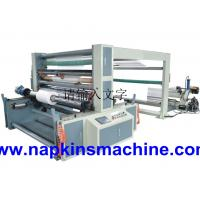 Quality Self Adhesive Paper Roll Slitting Machine / Paper Rewinding Machine For POS Paper for sale