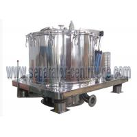 China Peony High quality Stainless steel GMP standard Scraper Basket Centrifuge With Siemens PLC Programming on sale