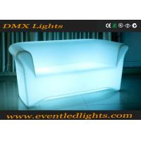 Best Color Change RGB LED Sofa / Battery Operated Light Sofa Set With Remote Control , Eco Friendly wholesale