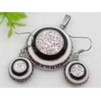 Quality Stainless Steel Vintage Rhinestone jewelry set 1900335 for sale
