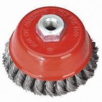 Quality Cup Brush with Twisted Steel Wire and 65/75/85/90/100/125/50mm Diameters for sale