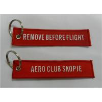 Best Embroidered Keychain Aero Club Skopje Remove Before Flight wholesale