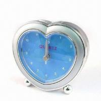 Quality Heart-shaped Standard Alarm Clock, Measuring 92 x 85 x 29mm for sale