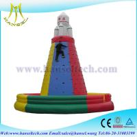 China Hansel high quality outdoor adult Inflatable rock climbing wall on sale