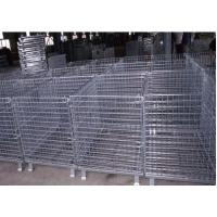 Quality Mild Steel Metal Pallet Cage , Collapsible Pallet Cages 20 Cm Folding Height for sale