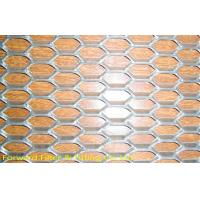 China Diamond Mild Steel Expanded Metal Mesh For Ceiling / Wall Decoration on sale