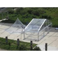 Quality Pagoda Type Transparent Marquee Tent , All Transparent Curve Tent Strong Aluminum Frame for sale