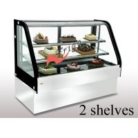China Curved Cold Bakery Food Display Showcase Orchid Cake Showcase Tempered Glass on sale