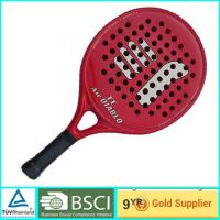 Quality Red Adult & Kids Beach Paddle Racket Carbon professional paddle ball rackets for sale