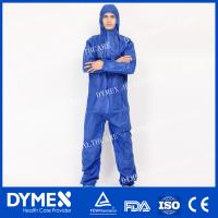 Quality 55G SMS Type 5 / 6 Protective Non-sterile Coverall for Food Industry for sale