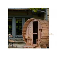 Best True Bent Stave outdoor Sauna Barrel with Electric heater / burning stove wholesale