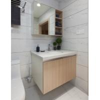 China PVC Board Hotel Bathroom Furniture Bathroom Wall Mounted Cabinets With Mirror on sale