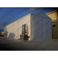Quality 6 x 24m Waterproof Industrial Storage Tents White PVC Cover For Workshop Use for sale