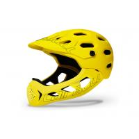 Quality 2020 New Style PC+EPS In-Mold All Cross New Downhill Mountain Bike Adult Full Helmet Extreme Sports Safety Helmet Yellow for sale