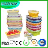 Quality 4 Pack (350ML , 540ML , 800ML , 1200ML) Food Storage Containers Silicone Collapsible Lunch for sale