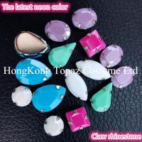 China fluorescence Neon resin stone claw setting acrylic rhinestone for wholesale on sale