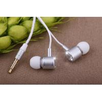 Best White Line Silver Head Stereo Super Bass Ipod Earphone for Mobil Iphone wholesale