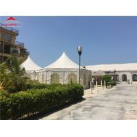 China White Outdoor Marquee Party Tent / Small Gazebo Tent For Wedding Party on sale