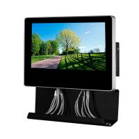 China Metal Wall Mounted Electric Mobile Phone Charging Station Digital Signage  With 21.5'' AD Screen on sale