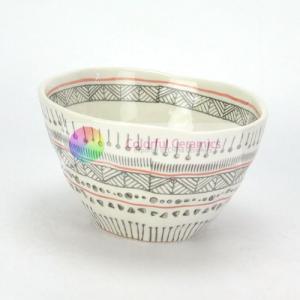 Quality Vintage Irregular Shape Handmade Pottery Soup Bowls Unusual Design for sale