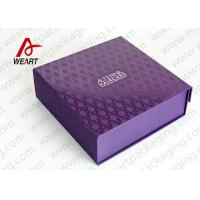 Quality UV Varnish Automatic Purple Gift Foldable Paper Boxes With Lids for sale