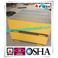 Best Steel Drum Spill Containment Pallets , Spill Containment Platform Yellow wholesale