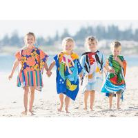 Quality Custom Print Beach Kids Hooded Poncho Towel for sale