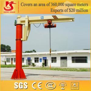 Quality CCTV Brand Remote control Bzd Model Pillar Mounted Jib Crane 2 ton for sale