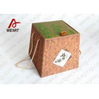 Best Bamboo Made Double Faced Foldable Paper Box For Food Products 24 X 24 X 8cm wholesale