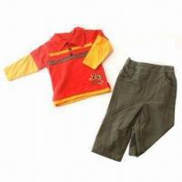 Buy cheap Baby Clothing Set, Made of 100% Cotton from wholesalers