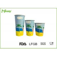 Quality 12oz 16oz 22oz Disposable Cold Paper Cups , Custom Disposable Drinking Cups Eco Friendly for sale