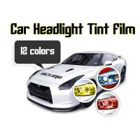 Quality Car Headlight Tint Film 3 layers 0.3*10m/roll - colors for choose for sale