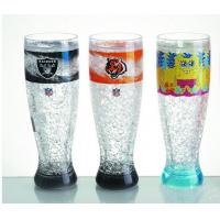 Quality HT-18 plastic tall beer cup colors gel water PS material Cold drinks beer cup custom LOG for sale