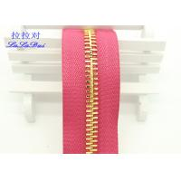 China Metal Ykk Sewing Notions Zippers ,  Pink / Green / Purple Tape 9 Inch Separating Zipper on sale