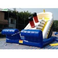 China Adults Titanic Ship Inflatable Slides / Commercial Inflatable Slides 21 High on sale