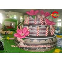 China Three Story Birthday Cake Inflatable Model For Outdoor Exhibitions on sale