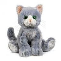 Quality Sitting Pose Grey Cat Plush Toys for sale