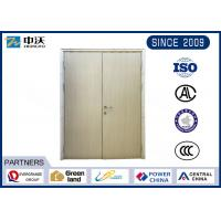 Yellow 1 Hour Fire Resistant Wooden Doors With Two Leaves Scratch Resistance