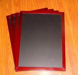 China Wooden easel, black tile easel, mahogany color frames on sale