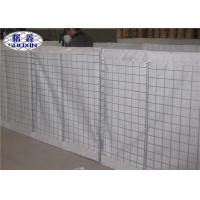 China White Small HDP Defensive Barrier , Hesco Bastion For Shelter House on sale