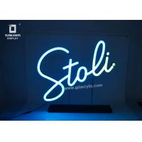 Best Flexible Personalized / Custom Neon Signs Counter Type Eye - catching Logo wholesale