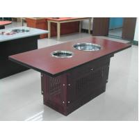 Buy Wood table Red color Smokeless barbecue pot Hot and cold snow pot Smokeless grilled pot at wholesale prices