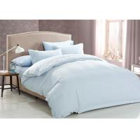 Quality Cotton Jacquard Hotel Bedding Collections Light Blue Queen Size for sale