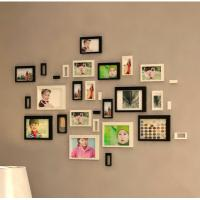 Quality 3D wall stickers home decor background stickers wooden decoration stickers photo frame home decoration for sale