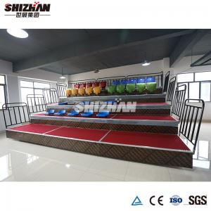 Quality Indoor Stadium Seating Chairs Recessed Automatic Folding Up Telescopic Bleacher Customized for sale