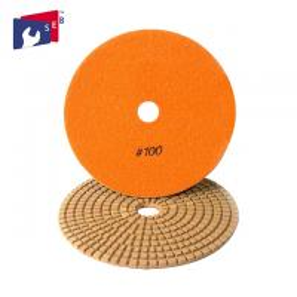 Buy Orange Diamond Stone Polishing Pads , 5 Inch Concrete Polishing Pads at wholesale prices