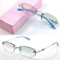 Quality 1011 Rimless Crystal Woman′s Optical Eyeglasses Frames for sale